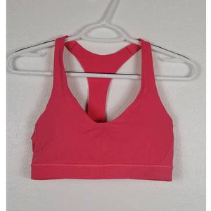 Lululemon Pink Sport Bra Size 8